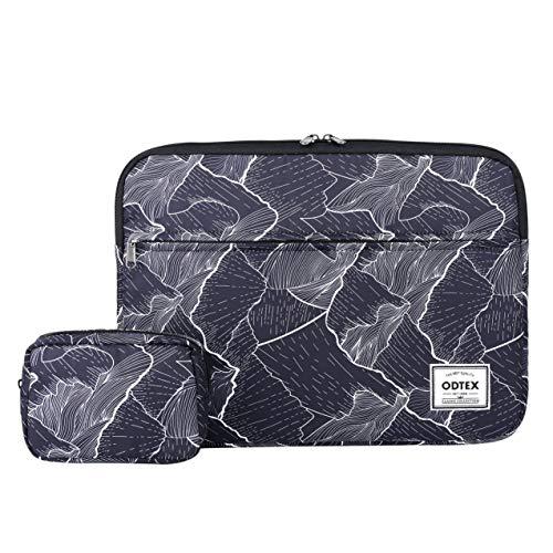 """ODTEX Laptop Sleeve Case Schutzhülle Tasche passend für Macbook DELL HP Chromebook Schwarz Moutain 15\""""-15.6\"""""""