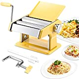 elabo Pasta Machine - Stainless Steel Roller Pasta Maker - 7 Adjustable Thickness Settings Noodles Maker with Hand...