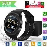 Smartwatch,Impermeable Reloj Inteligente Redondo con Sim Tarjeta Camara Whatsapp,BluetoothTactil Telefono Smart Watch Smartwatches para Android iOS Smartphone Hombre Mujer Niño Niña