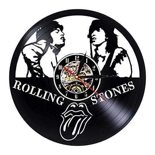 LED Colorful vinyl wall clock Vinyl record wall clock modern design rolling stone rock band music clock wall watch home decoration gift for fans