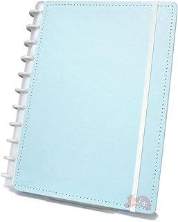 Caderno Grande Tons Pastéis Azul com 80 Folhas Caderno Inteligente
