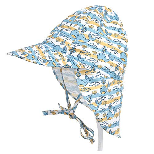 Lazz1on Baby Sonnenhut mit Nackenschutz UV Schutz UPF50+ Jungen Mädchen Sommer...