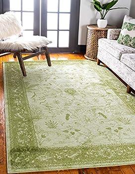 Unique Loom 9' x 12' Floral La Jolla Area Rug