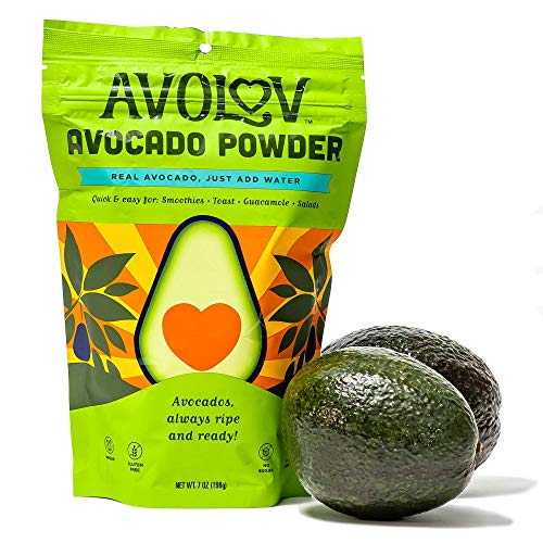 Avolov Avocado Smoothie Diet Powder Extracted from Perfectly Ripened Hass Avocados, 100% Organic Pure Healthy Ingredients, Great for Morning Smoothies