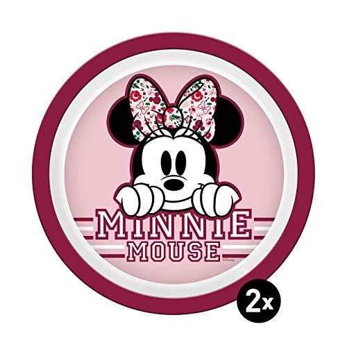 Disney Mickey & Minnie Kids 14265 Juego de platos, plástico
