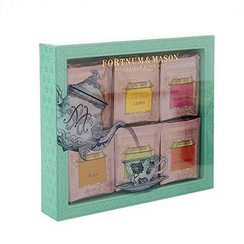 FORTNUM & MASON - Fruit-Flavoured Tea Bag Selection (Selección de bolsas de té con sabor a frutas) - 60 sobres