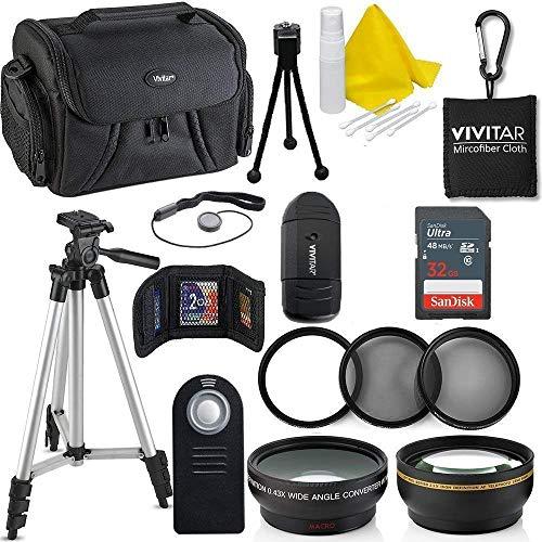 Professional 52MM Accessory Bundle Kit for Nikon D3300 D3200 D3100 D5000 D5100 D5200 D5300 D5500 D7000 D7100 D7200 & DSLR Cameras, 15 Accessories for Nikon