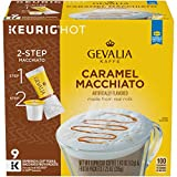 Gevalia Caramel Macchiato Keurig K Cup Coffee Pods & Froth Packets (9 Count)