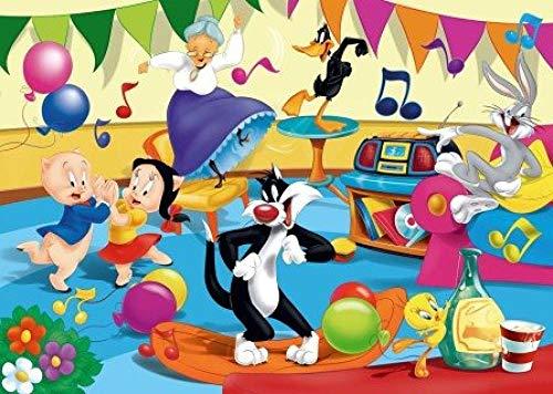 FPRW® - Rompecabezas de Madera para niños - La Fiesta - 1000 Piezas - Looney Tunes