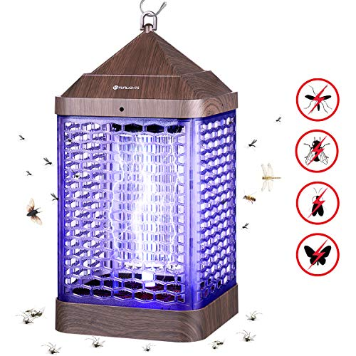 YUNLIGHTS Upgraded 9W Electronic Bug Zapper - Insects Killer - Mosquito Zapper - Mosquito Lamp - Fly Trap - Insect Killer Zapper - Mosquito Trap - Fly Killer with UV Light for Indoor and Outdoor
