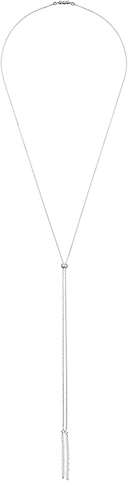 Dee Berkley Bolo Convertible Necklace Sterling Silver with Coated Quartz