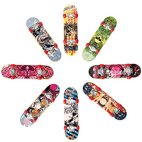 Kbsin212 Mini Monopatín De Juguete Mini Patineta Finger Diapasones para Niños Diapasones Dedo Skateboard para Niños, Niñas, Favores De Fiesta, Rellenos De Bolsas, Decoración De Escritorio Actual