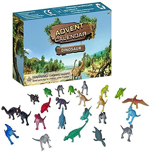 FFVWVGGPAA 2021 Christmas Blind Box Dinosaurios Calendario de Adviento 24Pcs Regalo para niños de 3 años y Mayores F0090015