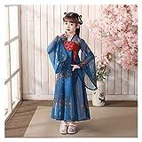 LUOSI Vestido de hada Hanfu para niñas de estilo antiguo, vestido de hadas para niños, vestido de estilo chino, disfraz antiguo para niñas (color: estilo O, tamaño: 110 cm)