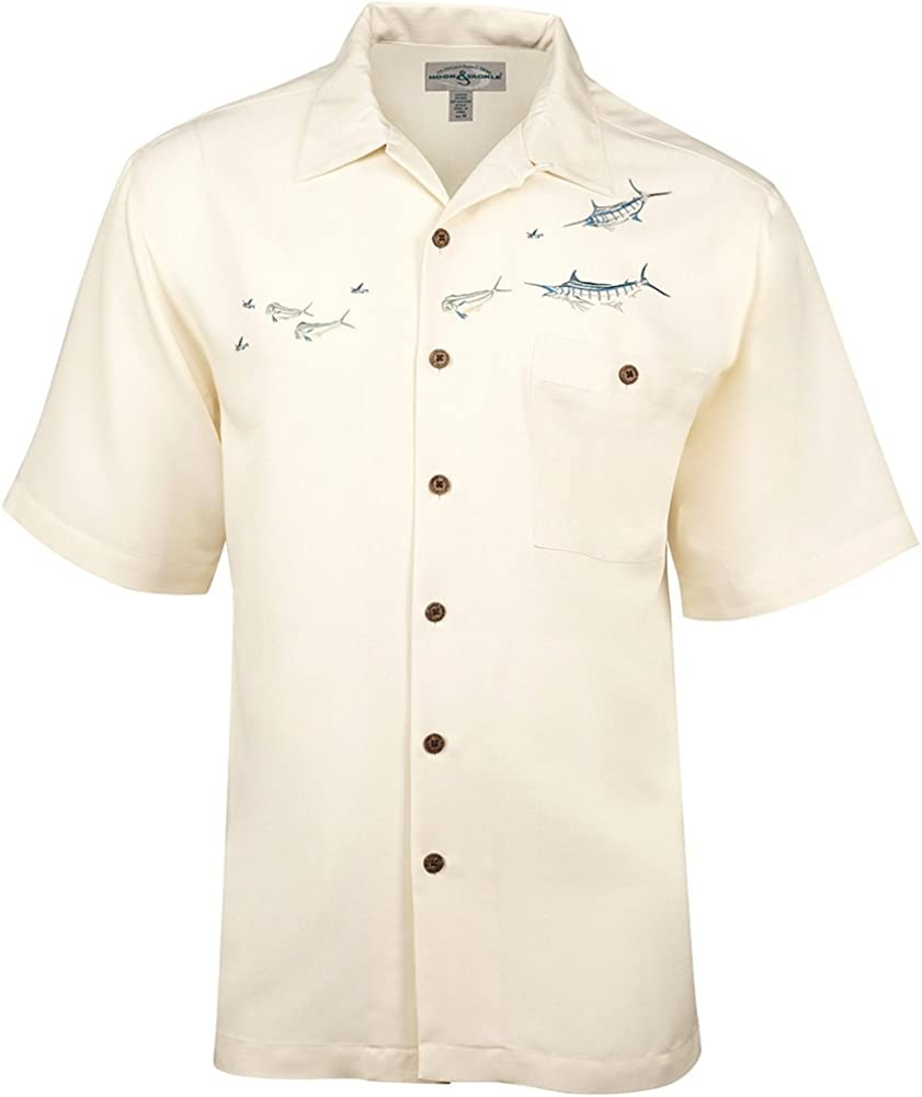Hook & Tackle Men's Angler's Delight   Short Sleeve   Embroidered   UV Sun Protection   Fishing Shirt