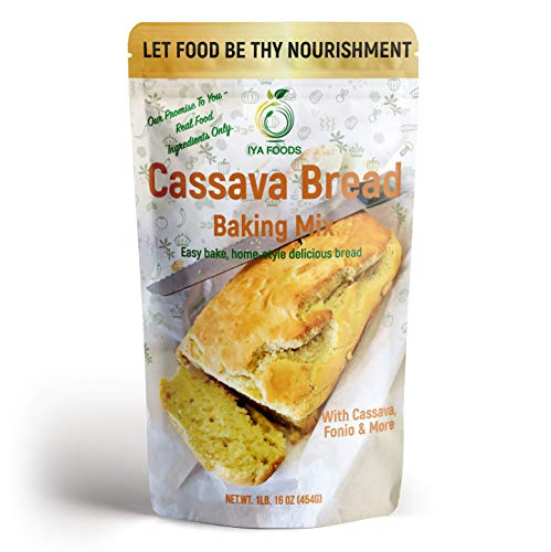 Iya Foods Cassava Bread Baking Mix 1 lb Pack. Easy Bake, home style delicious bread. Made from 100% Cassava Flour