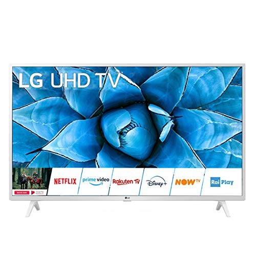 "LG 49UN73906LE.AEUD Smart TV LED Ultra HD 4K IPS 49"", Processore Quad Core 4K, Wi-Fi, AI ThinQ, HDR 10 Pro, Google Assistant e Alexa Integrati - TV 4K, Bianco"