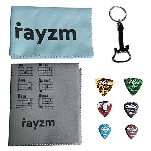 Rayzm Guitar Chords Chart Panno polacco, Panno pulito per chitarra in microfibra normale, Plettri...