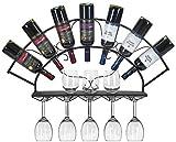 JBNJV Estante para vinos Estante para Copas de Vino Estante para Colgar en la Pared de Hierro Decoración para Botellas de Vino Estante para Botellas de Vino Estante para Vino Europeo Estante para