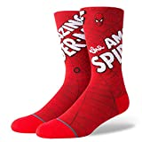 Stance Men's M546D18AMA Amazing Spiderman Sock, Red - Large
