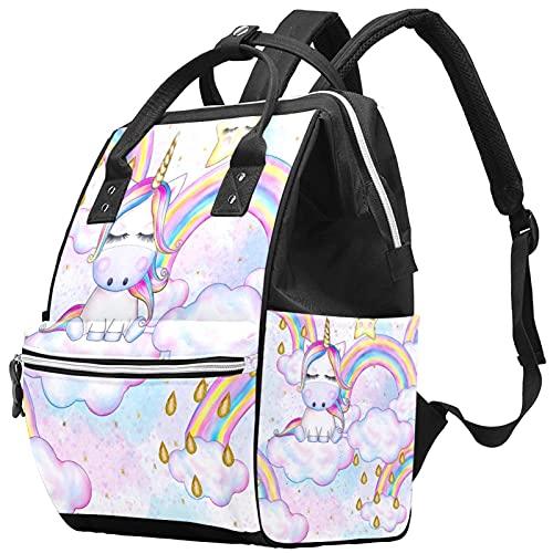 WJJSXKA Mochilas Bolsa de pañales Laptop Notebook Mochila de Viaje Senderismo Mochila para Mujeres Hombres - tortas de unicornio