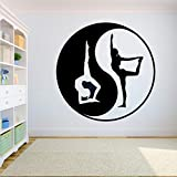ganlanshu Yin Yang Grafik Logo Wandtattoo Vinyl Wanddekoration Aufkleber Home Gym Yoga entfernbare...
