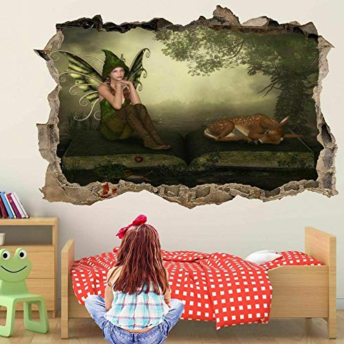 wall sticker Fairy Book Fawn Magical Forest Wall Art Stickers Mural Decal Kids Bedroom