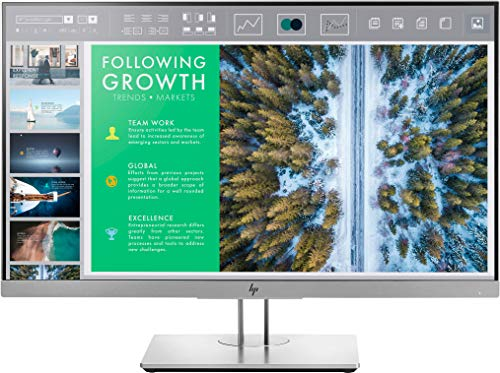 HP EliteDisplay E243 (23,8 Zoll / Full HD) Business Monitor (HDMI, DisplayPort, VGA, USB 3.0, Pivotfunktion, Reaktionszeit 5ms, 60Hz) schwarz-silber