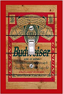 Budweiser Lightswitch cover- Budweiser switch plate cover-Room Decor
