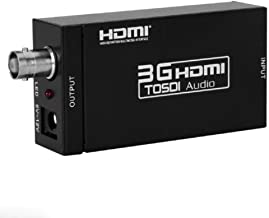 TENINYU HDMI to SDI Converter Scaler Adapter 1080P 1080I 720P 576I 480P MINI 3G with Coaxial Audio Output for Home Theater Cinema PC HD