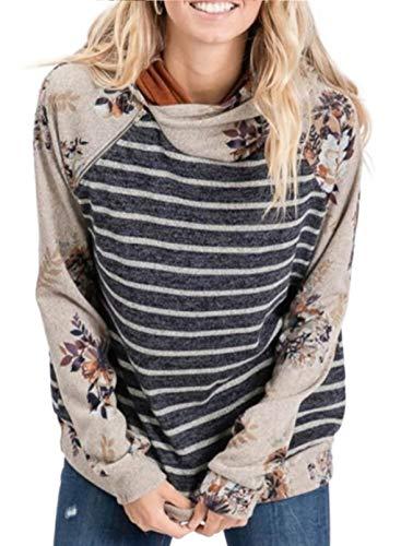 CORAFRITZ Damen Pullover, locker, leichter Blumendruck, lange Ärmel,...