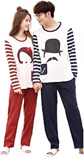 Taomengsi 2019年 ペアパジャマ 4点セット レディース メンズ パジャマ 長袖 可愛い 上下セット 綿 パジャマ お揃い 誕生日お祝い プレゼント 結婚祝い 結婚