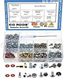 660pcs Phillips Head Computer PC Spacer Main Board Standoffs Screws Assortment Kit for Har...