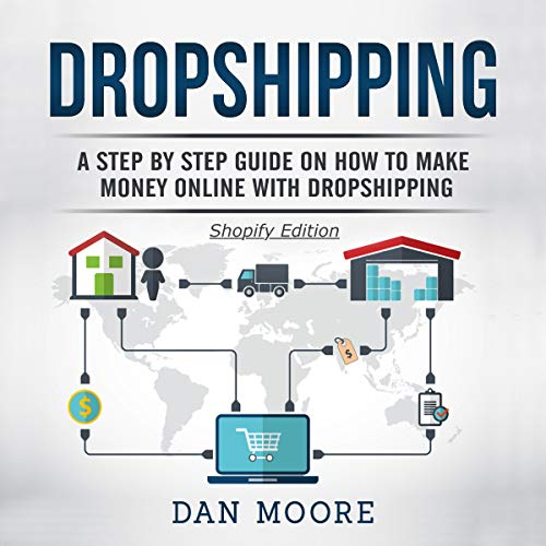 Dropshipping     A Step by Step Guide on How to Make Money Online with Dropshipping - Shopify Edition              By:                                                                                                                                 Dan Moore                               Narrated by:                                                                                                                                 Ridge Cresswell                      Length: 39 mins     3 ratings     Overall 2.3