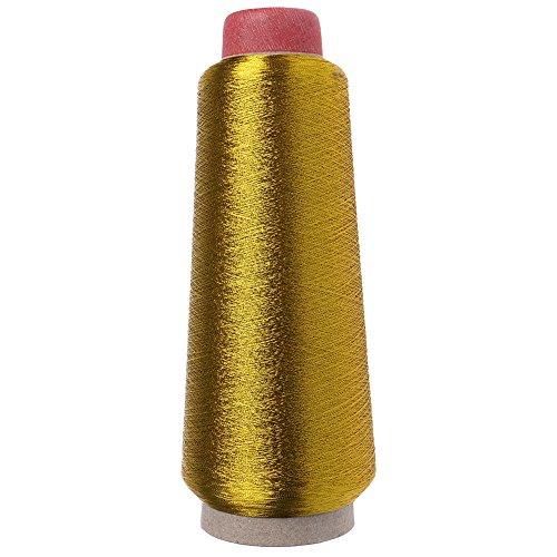 Senoow - Filo conico per macchina da cucire, in poliestere, multiuso, colore: oro e argento e Acciaio inossidabile, colore: Oro, cod. SZZXBGFHBFB15130