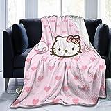 Manta de Felpa Ultra Suave de Hello Kitty, cálida y acogedora, Manta de Felpa, sofá Cama, 50'x 40'