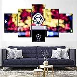 65Tdfc - Etiqueta De La Pared 5 Panel - Fútbol FC Barcelona Cl - Canvas Pintura De Árboles HD Largepaandscape Wall Art Home Living Room Decor