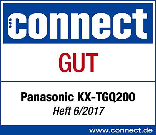 Panasonic KX-TGQ200GW DECT IP-Telefon (schnurlos, CAT-iq 2.0 kompatibel, Freisprechmodus, Anrufersperre, Eco-Plus, digitales Telefon) weiß