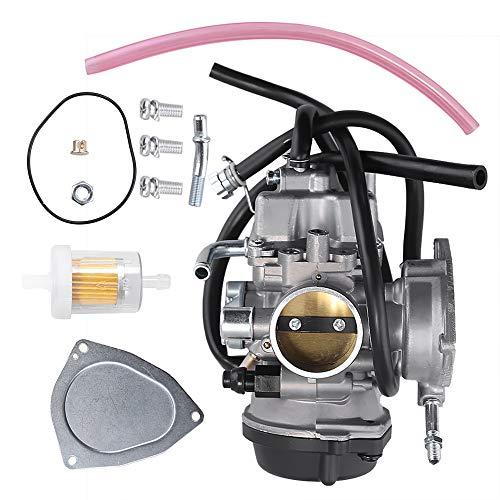 Saihisday 13200-07G01 36mm Carburetor for Suzuki LTZ400 Kawasaki KFX400 Arctic Cat DVX400 2003 2004 2005 2006 2007 w/Fuel Filter Gasket Carb Rebuild Kit