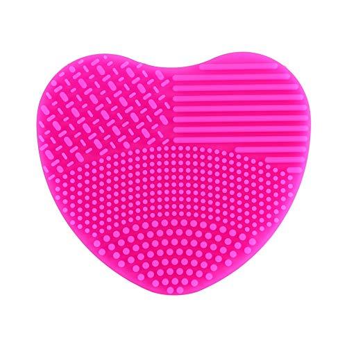 Gant en silicone de nettoyage pour pinceaux cosmétiques Rose - rose