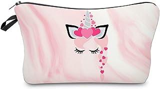 حقيبة مستحضرات التجميل للنساء، حقائب ماكياج سفر فسيحة رائعة مضادة للماء حقيبة أدوات الزينة الصغيرة المنظم