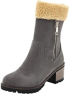 comprar comparacion ZODOF Zapatos para niños Bebé Niños Lentejuelas Niñas Patchwork Navidad Warm Boots Niños Bebé Invierno Zapatos