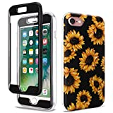 GOLINK Full Body Shockproof Protective Case with Built-in Screen Protector for 4.7 inch iPhone 7 and iPhone 8(Sunflower)