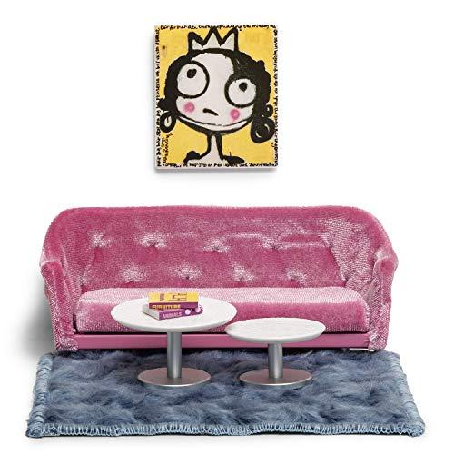 Lundby Dollhouse Living Room Furniture Set Modern Sofa Coffee Tables
