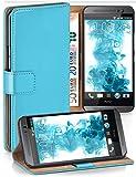 MoEx Funda Cartera [protección 360°] Compatible con HTC One M8 / M8s | Cierre magnético, Turquoise