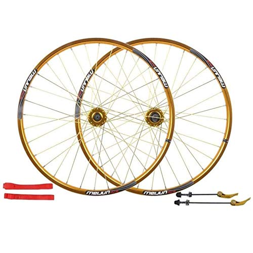 HJRD bicycle wheelset 26 inch, double-walled aluminum alloy bicycle wheels disc brake mountain bike wheel set quick release American valve 7/8/9/10 speed