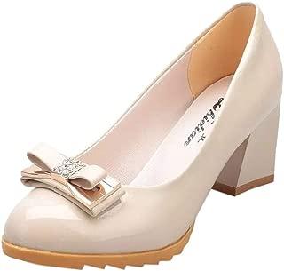 LUBITY Femme Escarpins Talon Aiguille Hauteur Chaussure Talon Moyenne Taille Asiatique Chaussures de Costume pour Femmes Pompes Confortables Chaussures Compens/ées Chaussures Simples