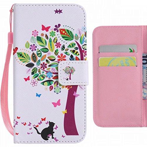 Ougger Handyhülle für ZTE Z981 / ZTE Zmax Pro hülle, Mode Baum Tasche Leder Schutzhülle Bumper Schale Weich Tasche Magnet Silikon Beutel Flip Cover mit Kartenslot