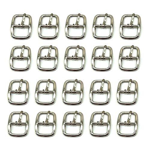 Hebillas de Metal para Cinturones,Hebilla para Bolsos,Hebilla Deslizante de Metal Rectangular Accesorios,Metal Cuadrados Hebillas para Zapatos,Se Utiliza para Bolsos, Cinturones, Zapatos,ArtesaníAs
