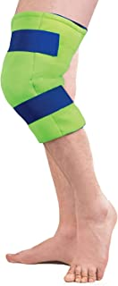 Polar Ice Large Knee Wrap Cold Therapy Wearable Ice Pack Adjustable Hook and Loop Closure